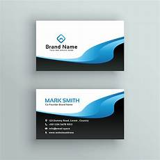 business card template blue professional blue wave business card template