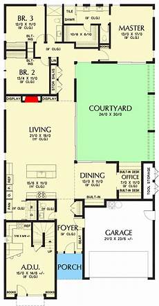 house plans with inlaw suites attached plan 69717am contemporary house plan with attached in law