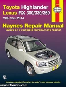 free car repair manuals 2002 toyota highlander windshield wipe control haynes 2001 2014 toyota highlander 1999 2014 lexus rx 300 330 auto repair manual