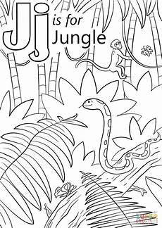 jungle animals coloring pages for kindergarten 17049 letter j is for jungle coloring page free printable coloring pages jungle coloring pages