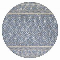 kayoom teppich rund 100 blau durchmesser 120 cm