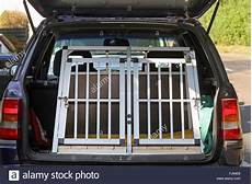 transport box in a car boot germany stock photo