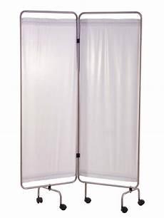 paravent inox 2 ou 3 panneaux avec rideaux tendus blancs