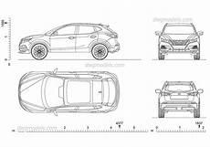Nissan Qashqai 2018 2d Cad Model Autocad Blocks Dimensions