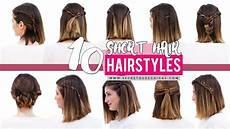 10 quick and easy hairstyles for short hair patry youtube