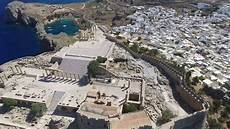 The Acropolis Of Lindos And Paul S Bay In Lindos