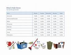 aufgaben im haushalt liste checklist for a child s household chores