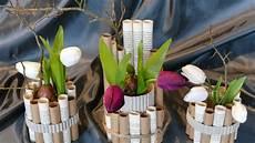 Fr 252 Hlingsdeko Basteln Aus Verschiedenen Papieren Vase
