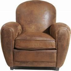 fauteuil club vintage marron kare design