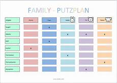 Putzplan Vorlage Kinder Haushaltsplaner Haushaltsplan