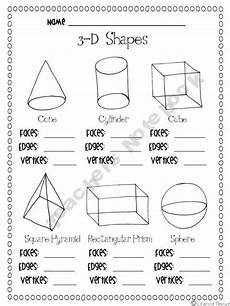 3 d shapes facts worksheet teaching shapes patterns and graphs math school shapes