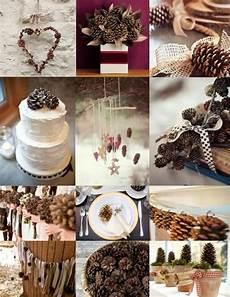 winter wedding pine cone wedding decoration ideas 2057887 weddbook