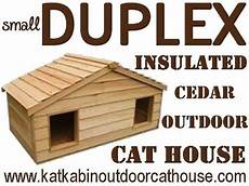 insulated cat house plans wood project ideas heated cat house plans
