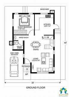 30x40 duplex house plans 40 feet by 30 house plans east facing