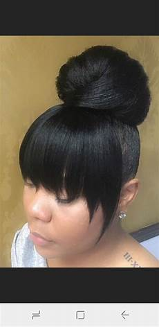 Donut Hairstyles With Bangs