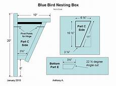 how to build a peterson slant front style bluebird house