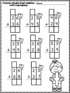 2nd grade math worksheet addition with regrouping digit addition and subrtraction printables with