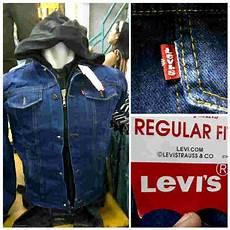 ruang jaket quot jaket denim levis premium kancing zipper size m l rp 180rb