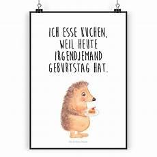 Igel Malvorlage Din A4 Poster Din A4 Igel Mit Kuchenst 252 Ck Witzige Spr 252 Che S 252 223 E