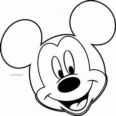 disney mickey outline coloring page wecoloringpage