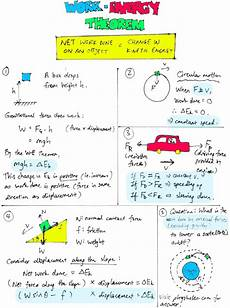 work energy theorem key concepts physics lens