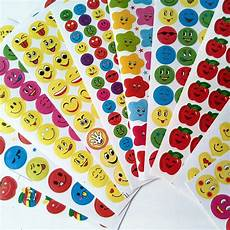 childrens sticker sheets happyxuan 10 100 sheets paper school rewards stickers for teachers smile face stars