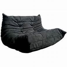 pouf togo ligne roset ligne roset togo sofa in black suede chair obsession