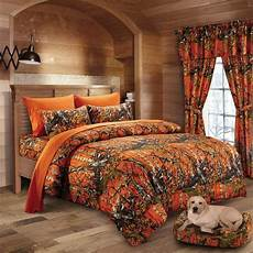 12 pc woods orange camo comforter sheet cal king size camouflage bedding ebay