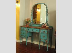 European Paint Finishes: ~ Chippy Teal Vanity