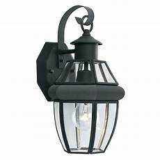 lighting heritage 1 light black outdoor wall lantern sl94247 the home depot