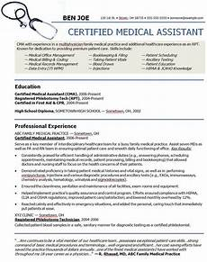 medical assistant sle resume sle resumes