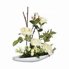 Composition Florale Quot Quot 36cm Blanc