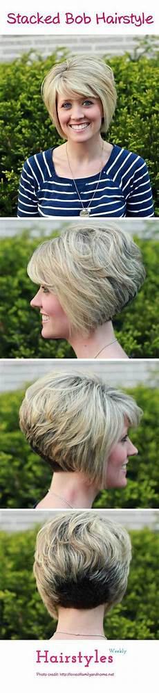 gorgeous stacked bob hairstyle with side swept bangs for thick hair hairstyles weekly