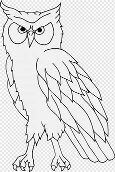 Vektor Tegak Burung Hantu Gambar Vektor Hewan Hitam Putih