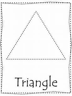 shape tracing trace the triangle shape preschool