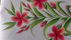 one stroke painting decorative floral painting for beginners youtube