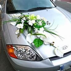 ventouse pour fleur voiture wedding car decorated with an artificial silk flower