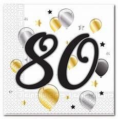 servietten 80 geburtstag 20 goldene milestone 80 servietten de