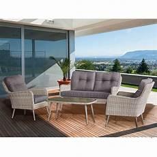 salon de jardin en rotin table basse canap 233 et 2 fauteuils