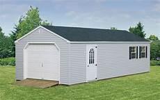 vinyl garage pre built custom garages cedar craft storage solutions