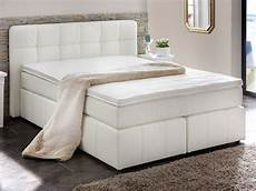 Weiße Betten 140x200 - boxspringbett benita 140x200 cm weiss bett mit matratze