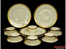 VTG 16 pc Epiag GB Made in Czechoslovakia White Gold China