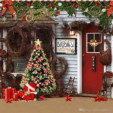 2019 merry party photo booth backdrop printed garland decorated christmas tree present