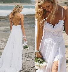 top selling lace beach wedding dresses long white wedding dresses backless bridal gowns front