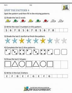 worksheets on shapes and patterns for grade 5 517 free kindergarten worksheets spot the patterns
