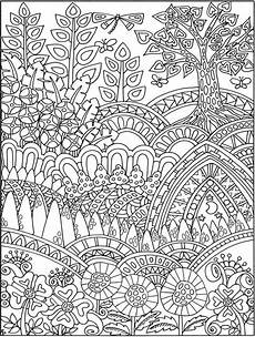 creative entangled forest coloring book dover