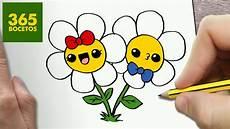 Como Dibujar Flores Kawaii Paso A Paso Dibujos Kawaii