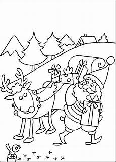 Ausmalbilder Weihnachten Rudolph Reindeer Coloring Page Santa Coloring Home