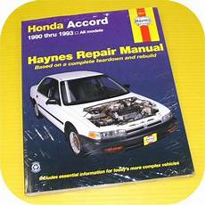 old cars and repair manuals free 2000 honda passport interior lighting repair manual book honda accord 90 93 dx ex lx owners ebay