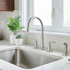 pictures of kitchen sinks and faucets delancey widespread kitchen faucet american standard